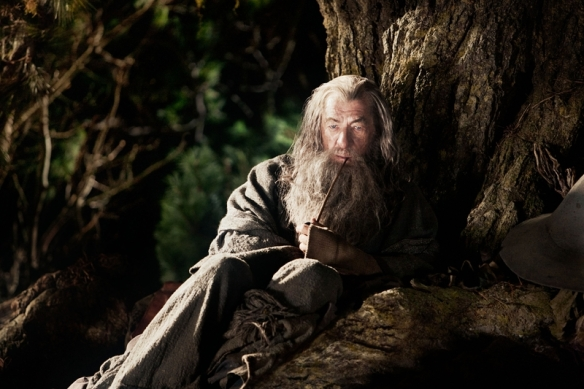 Gandalf Smokes his Pipe