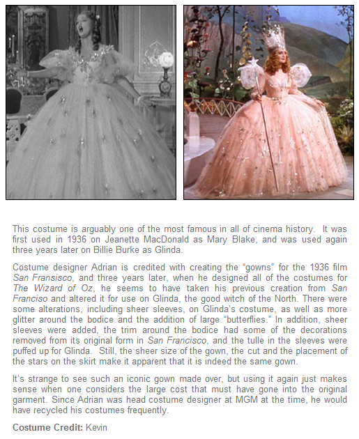 Recycled Movie Costumes- Glinda