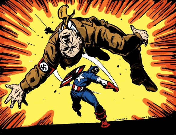 Cap punches Hitler color