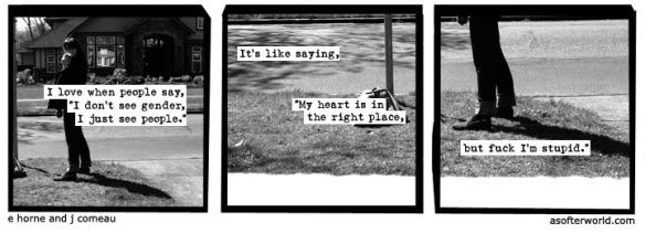 a softer world bus stop gender