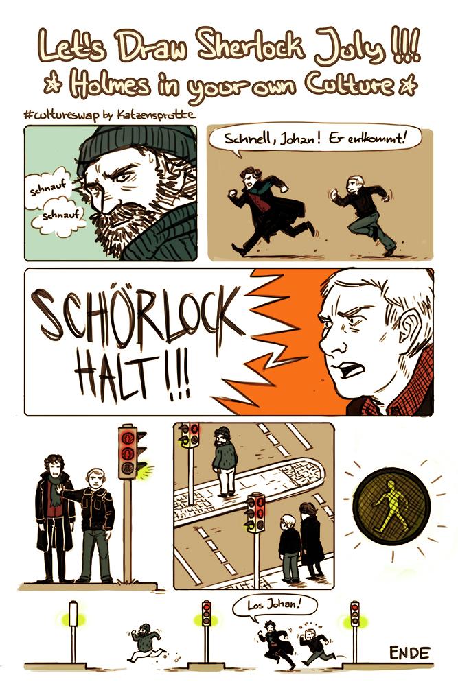 Fanfiction Fridays: Let's Draw Sherlock's Culture Challenge
