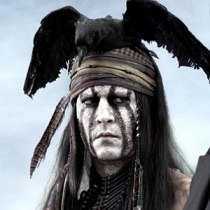 Johnny Depp as Tonto in the 2013 film.