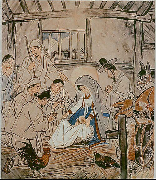 Beautiful image of the nativity from China.