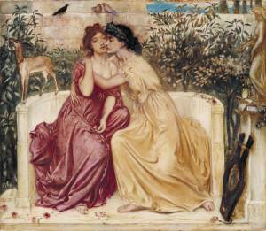 The poets Sappho and Erinna.