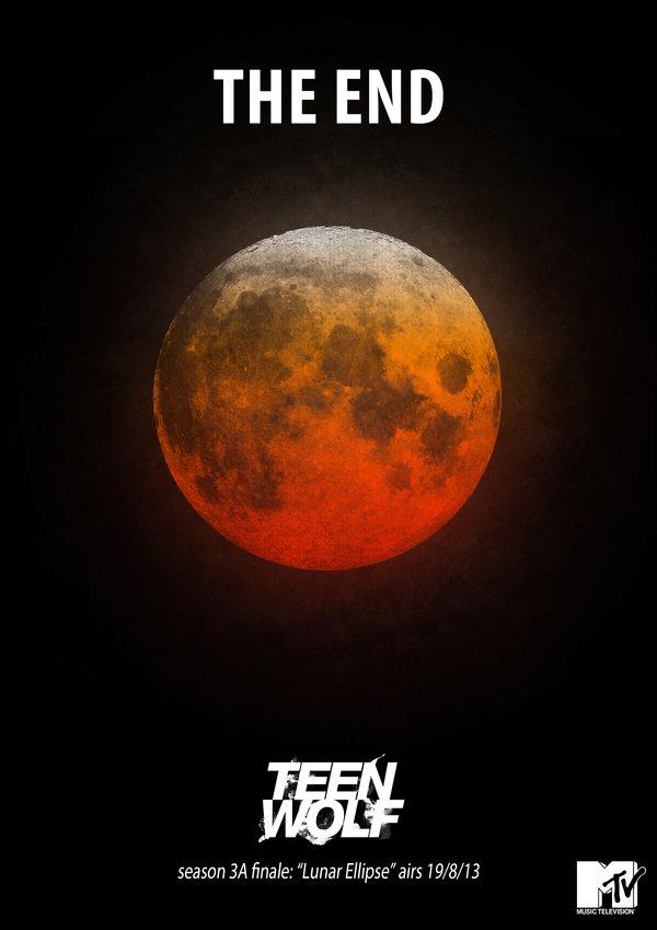 Teenwolf 3a finale teaser poster lunar eclipse by loupii d6i3ou9