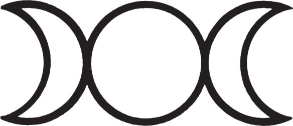 Wicca Neopaganism Triple Goddess symbol