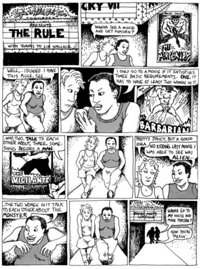 bechdel test original comic