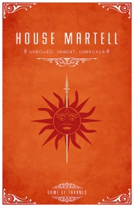 House Martell Family Crest Game of Thrones
