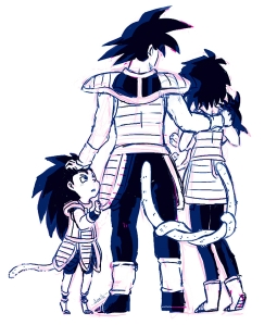 I refuse to find and post a picture of these girls, so here's an adorable family photo of Goku and his family that will help you forget the badness.