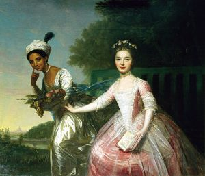 Ms. Dido Elizabeth Belle with her cousin, Lady Elizabeth Murray (any relation to Malcolm and Mina?!)