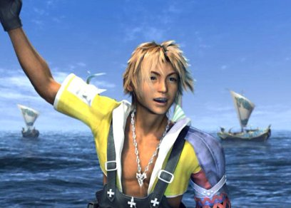 Tidus arriving in Luca from FFX