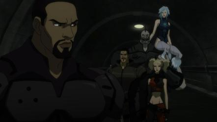 Also, Black Spider, and it's implied at the end that Amanda Waller as well, dies, so the only surviving characters are all white.