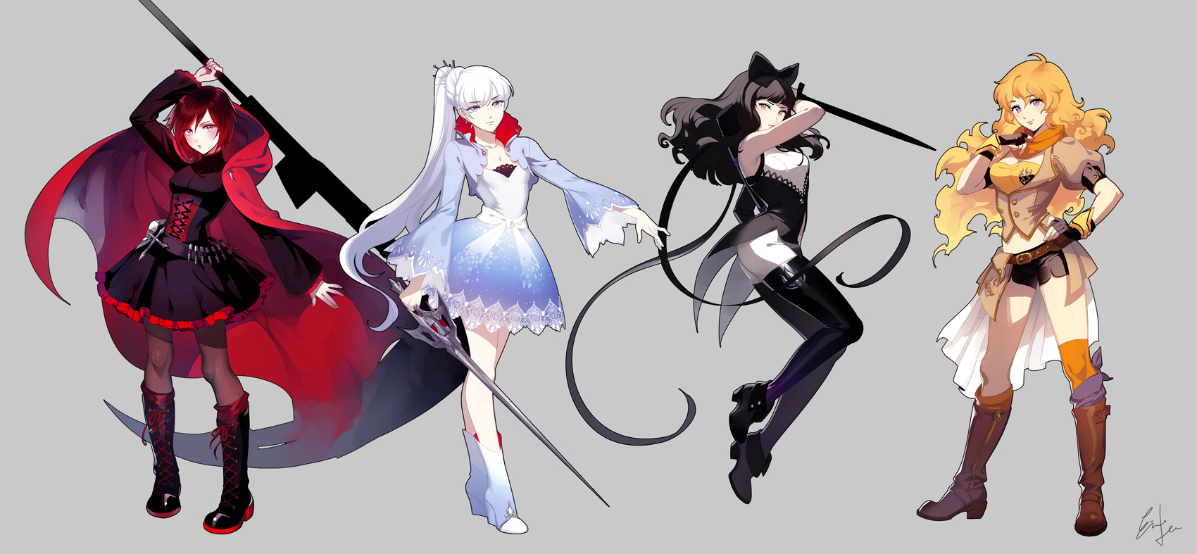 The Art Of Character Design Volume I : Rwby a gem in progressive character development lady