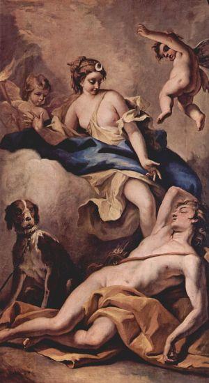 Endymion and Selene by Sebastiano Ricci