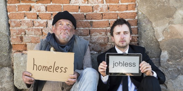 Relative Poverty, in a staged  stock photo via huffpo