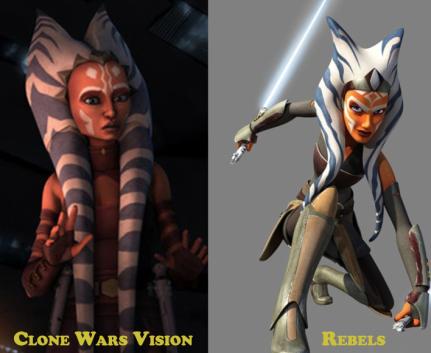 Ahsoka Clone Wars and Rebels