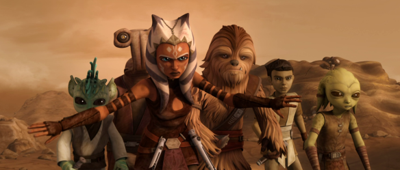 Ahsoka Tano about to fight Grievous