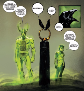 What's a group of Lokis called? A murder? A fib? A failure?