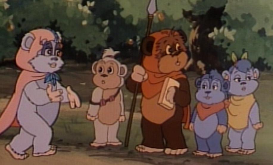 throwback thursdays star wars animated adventures ewoks lady