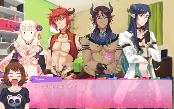 Left to right: Mirai, Akki, Orias, and Kael.