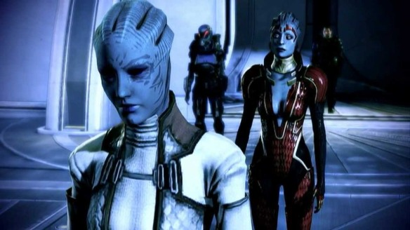 Also, it's totally looked down upon for asari to have children with other asari, so...