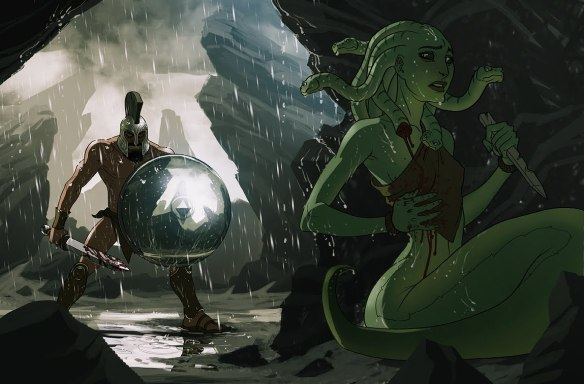 """Medusa"" by Matt Rhodes via howtocarveroastunicorn"