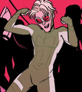 Enthusiastic white boy dancing.