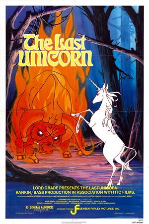 The Last Unicorn theatrical release poster