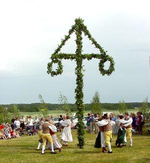 Sweedish Midsummers Festival Maypole