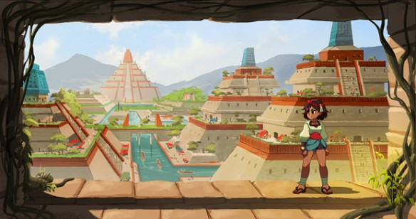 Ajna's world has no shortage of beautiful sites.