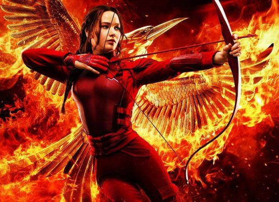 Mockingjay Part 2 Poster with Katniss on Fire