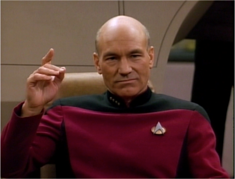 This is action, Picard-style.