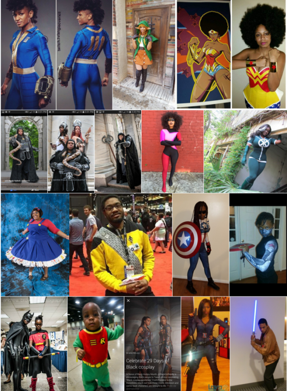 This beautiful Black cosplay fills me with Determination. (Via #29DaysofBlackCosplay on Twitter)