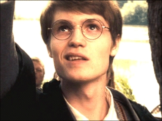 James Potter Young Lady Geek Girl and FriendsYoung James Potter