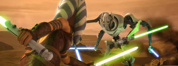 Star Wars Ahsoka fighting Grevious