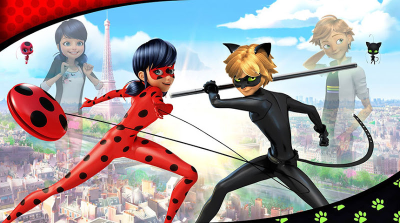 miraculous ladybug banner lady geek girl and friends
