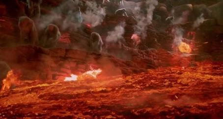 Also, there's a river of lava. Can't forget the river of lava.