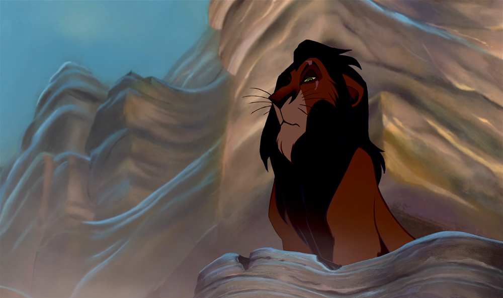 Scar (voiced by Jeremy Irons) in