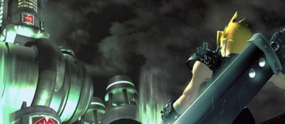 Final Fantasy VII Shinra Tower and Cloud