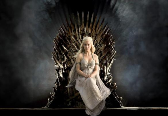 Game of Thrones Daenerys sitting on chair