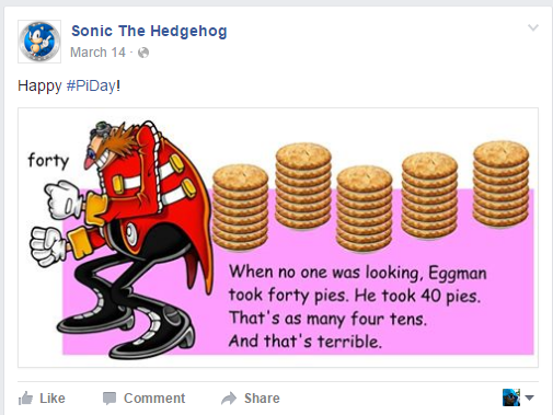 I mean, who was thinking about Sonic on Pi Day?