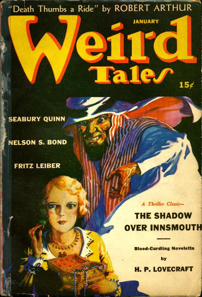 First Publication of Shadow Over Innsmouth (Weird Tales, January 1942)