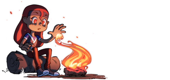 Maritte discovers fire. By @justinoaksford