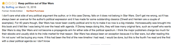 keep politics out of star wars