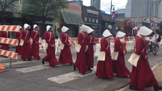 religion in handmaids tale Get everything you need to know about religion and theocracy in the handmaid's tale analysis, related quotes, theme tracking.