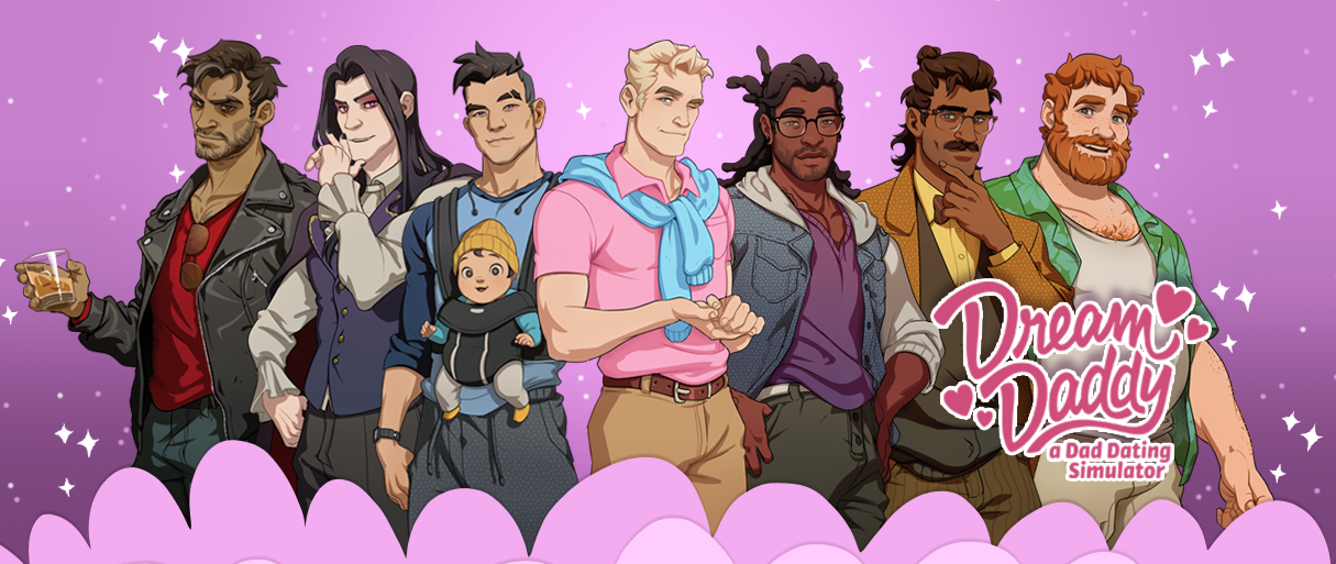 Trailer Tuesdays: Dream Daddy | Lady Geek Girl and Friends | 1215 x 513 png 676kB