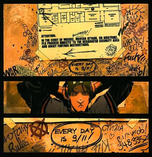 DMZ - 911 graffiti